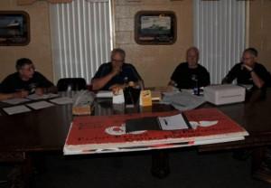 Your Association officers at work - Ben Walker, Dean Burchill, Dave Lincicome, Bob Wangen