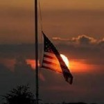 Flag at halfstaff