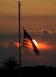 Flag at halfstaff
